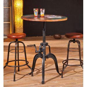 fundos table de bar ronde en bois