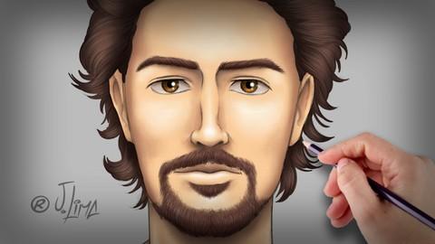 Dibujar y pintar a mano alzada el rostro humano