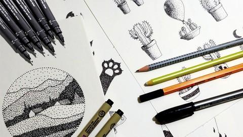 Curso básico de desenho: pontilhismo