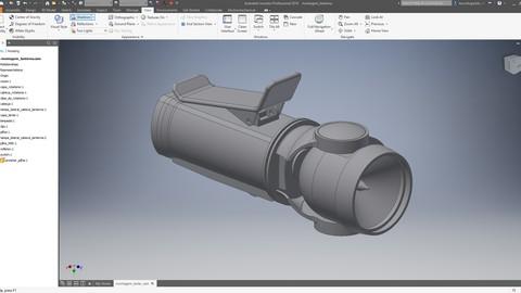Modelando uma lanterna utilizando AutoDESK Inventor 2019