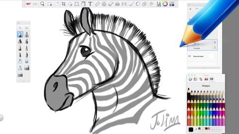 Como desenhar Animais: Girafas, Zebras e Crocodilos.