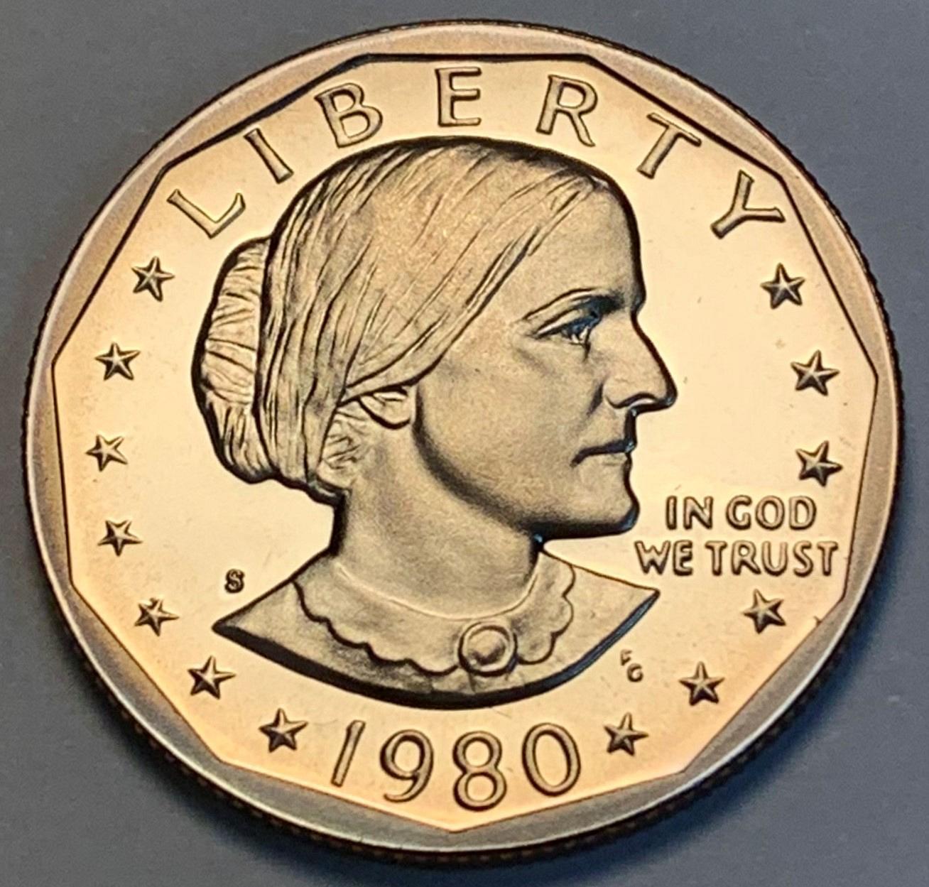 S Proof Susan B Anthony Dollar Iks 21