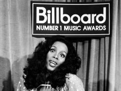 Donna Summer at the Billboard Music Awards in 1977.
