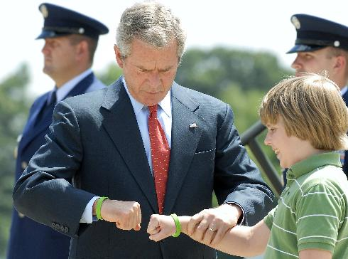 Clearly, Bush is now passing his terrorist values on to Americas children!