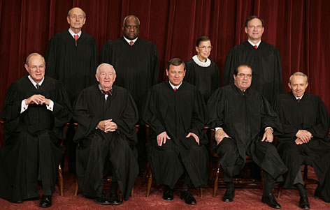 Hes outta there! (Judge Souter seated far right)