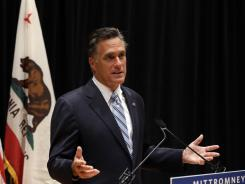 Romney speaks to reporters about the secretly taped video from one of his campaign fundraising events.
