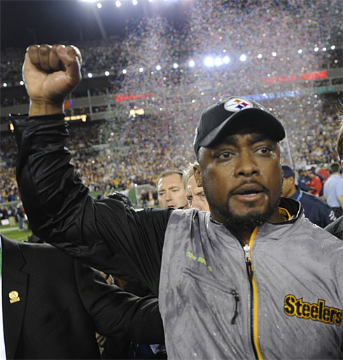 Black Steelers Coach Tomlin is Youngest Ever to Win Super Bowl