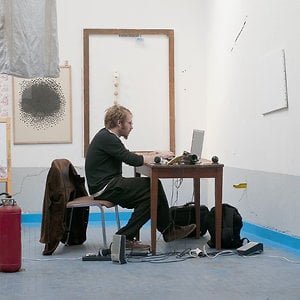 Julien Beau in his studio
