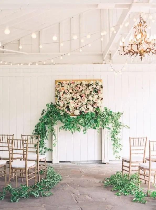 20 Romantic Botanical Wedding Ceremony Backdrops