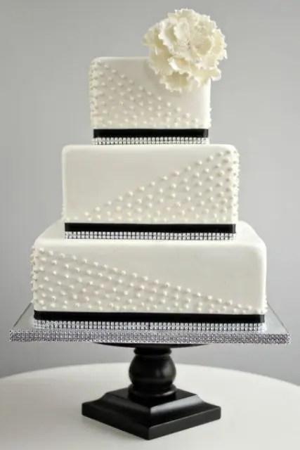52 Gorgeous Square Wedding Cake Ideas Weddingomania