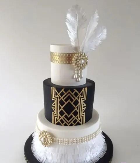 22 Unusual Wedding Cakes With Feathers Weddingomania