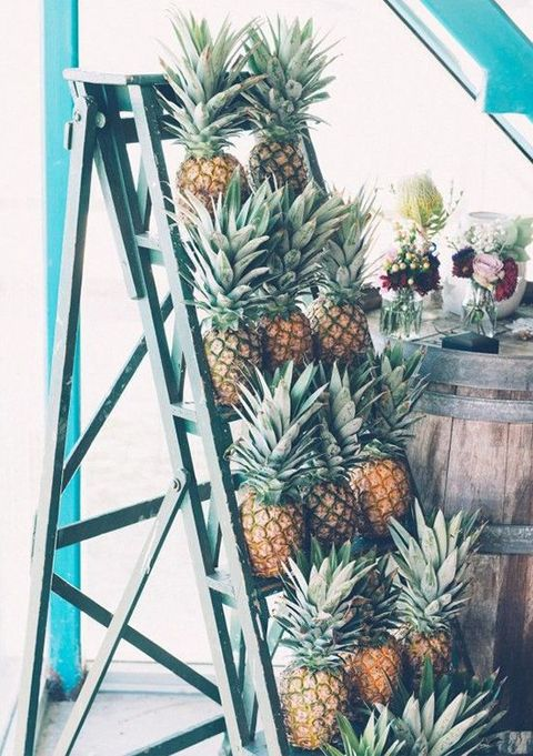 pineapples as tropical bridal shower favors are a fun and whimsy idea