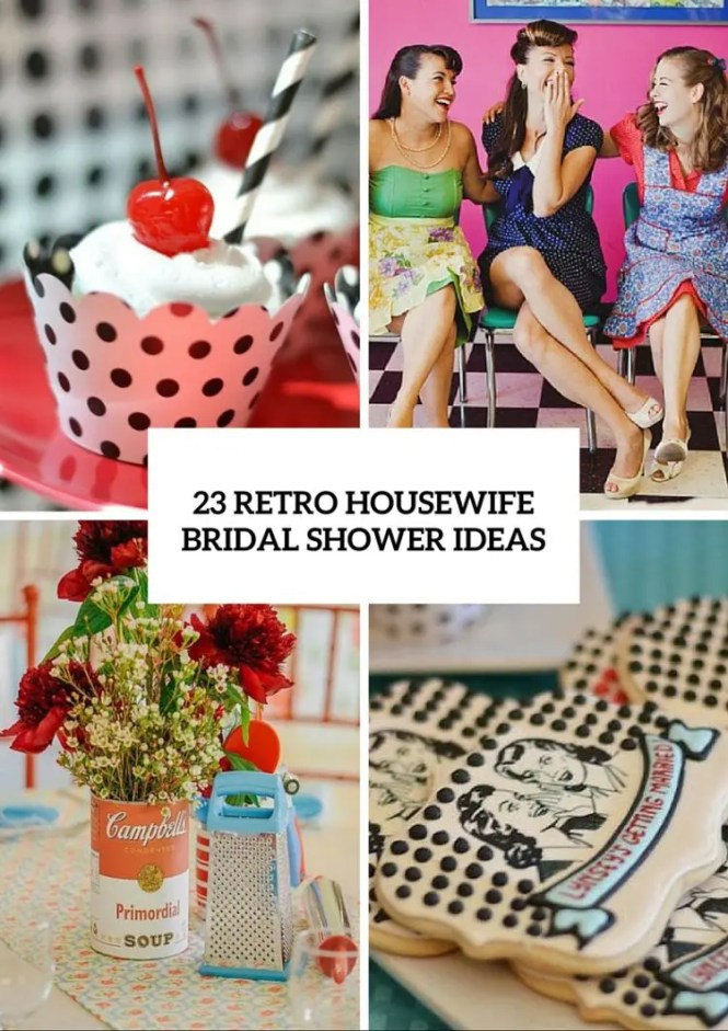 Retro Fifties Housewife Bridal Shower Invitation Come With Recipe Card And Game