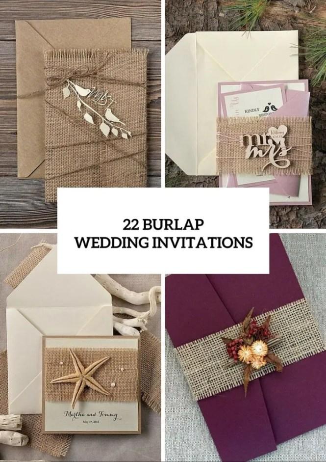 Custom Listing 20 Rustic Wedding Invitation Birds Burlap Invitations Wood 4lovepolkadots New