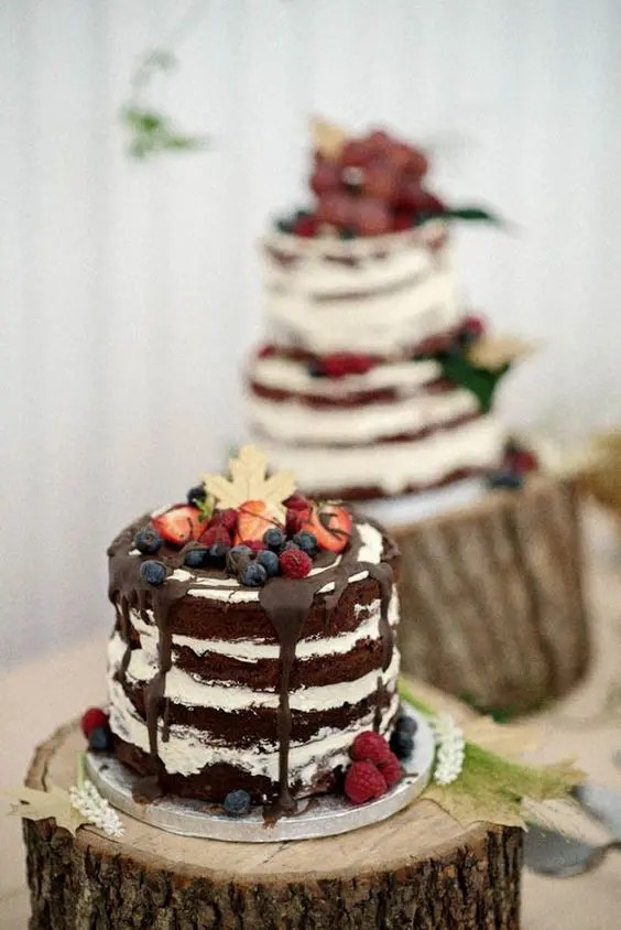 Picture Of Naked Wedding Berry Cake
