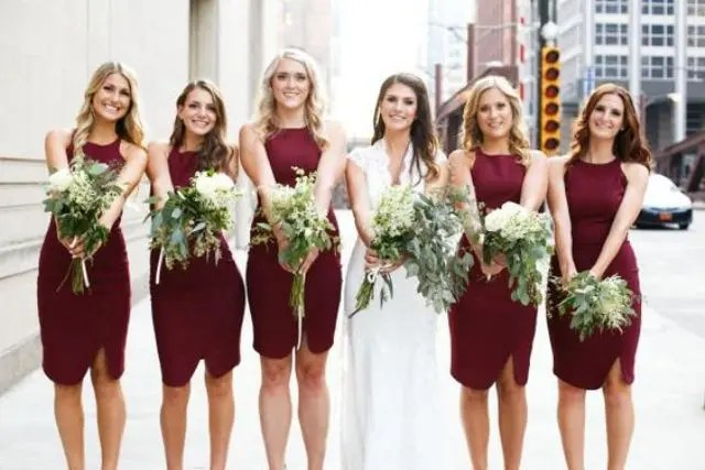 20 Stunning Marsala Bridesmaid Dress Ideas For Fall Weddings