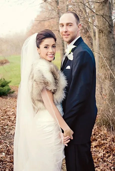 gorgeous fur vest to add a chic touch the bridal outfit
