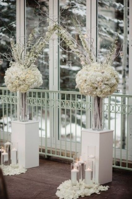 30 Winter Wedding Arches And Altars To Get Inspired Weddingomania