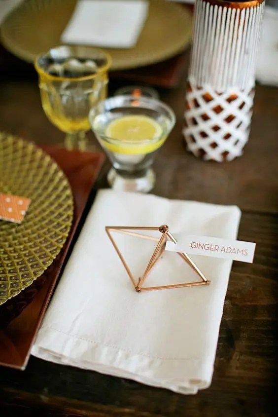 35 Trendy Geometric Wedding Dcor Ideas Weddingomania