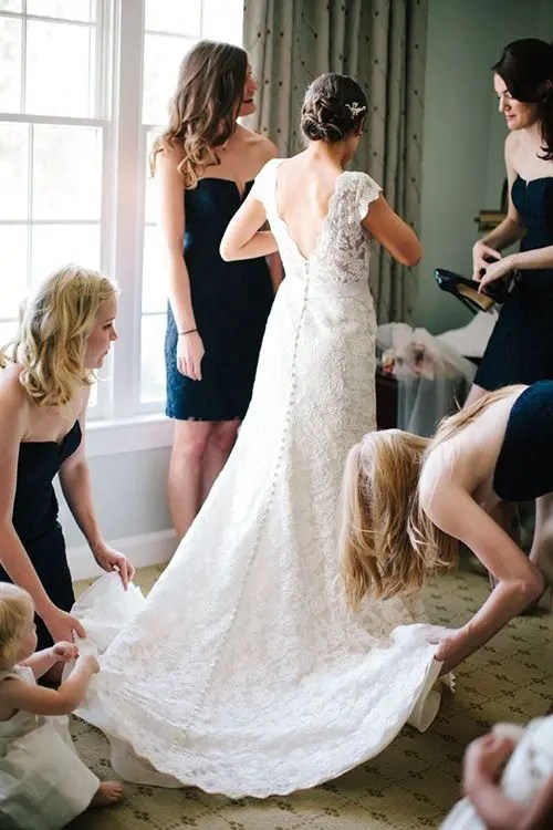 your best gals will show off the dress the best way possible