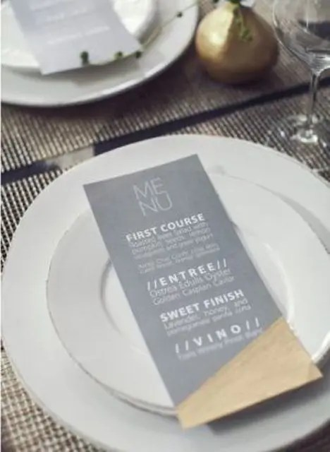 coolor block grey and gold menu