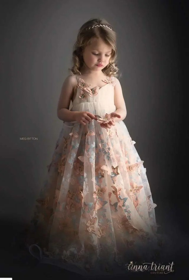adorable butterfly dress on straps for a little fairy