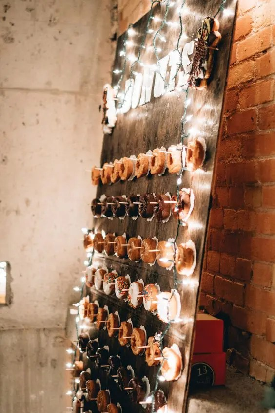 add lights to your donut bar to make it shine