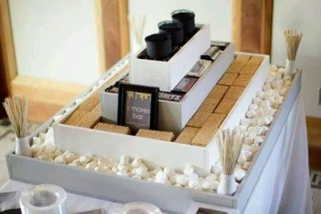 stylish modern s'more bar to fit your wedding style