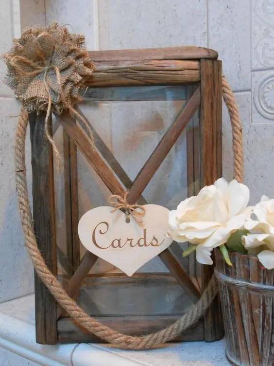 35 Rustic Wedding Card Boxes And Their Alternatives - crazyforus
