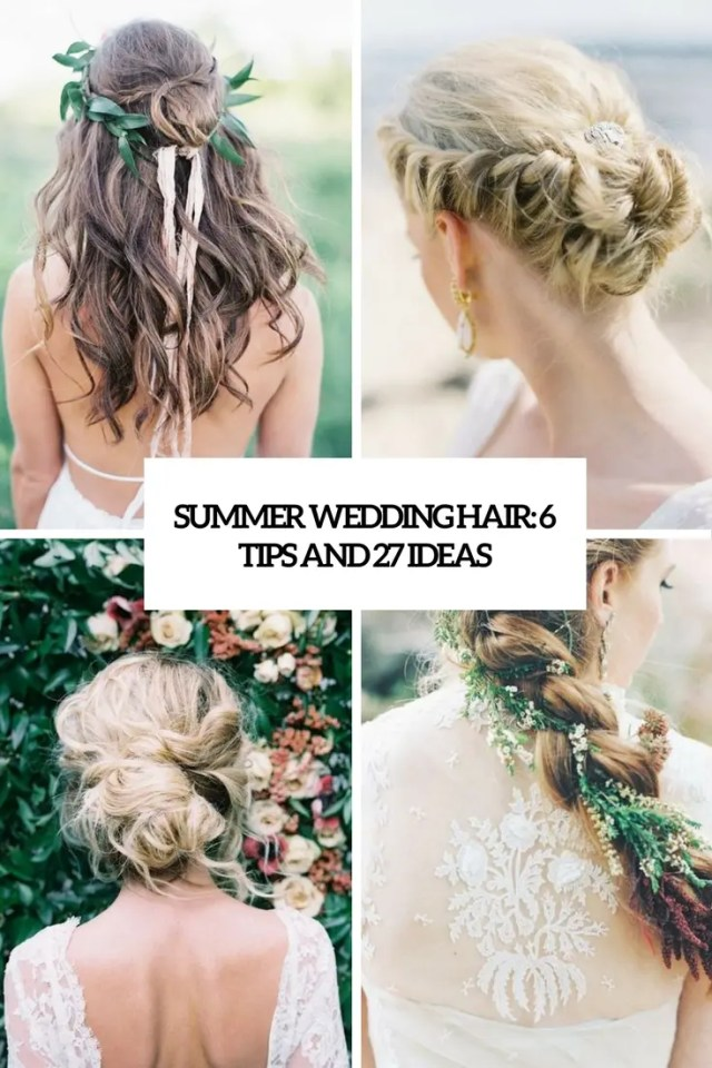 summer wedding hairstyle archives - weddingomania
