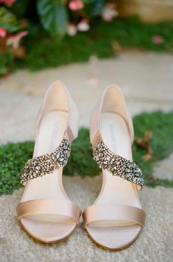 Blush Flat Wedding Shoes