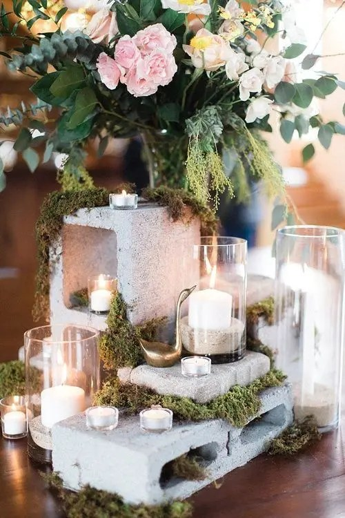 28 Trendy Concrete Wedding Table Decor Ideas Weddingomania