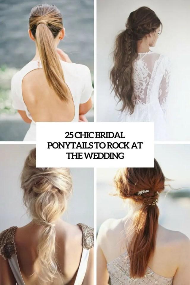 25 chic bridal ponytails to rock at the wedding - weddingomania