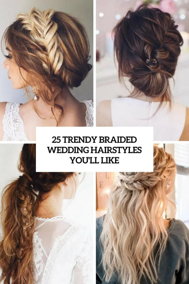 25 trendy braided wedding hairstyles you'll like - weddingomania
