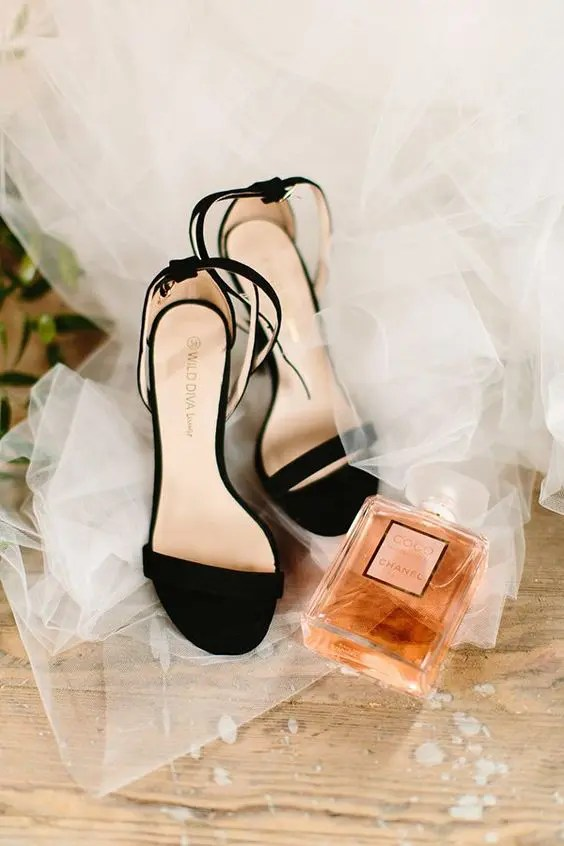 9efa5607bcb elegant black velvet heeled sandals are a timeless idea for any kind of  wedding. chic black ...