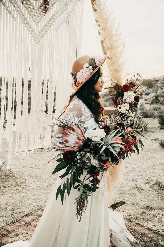 24 Edgy Ways To Rock A Hat At Your Wedding | Decorated Hats