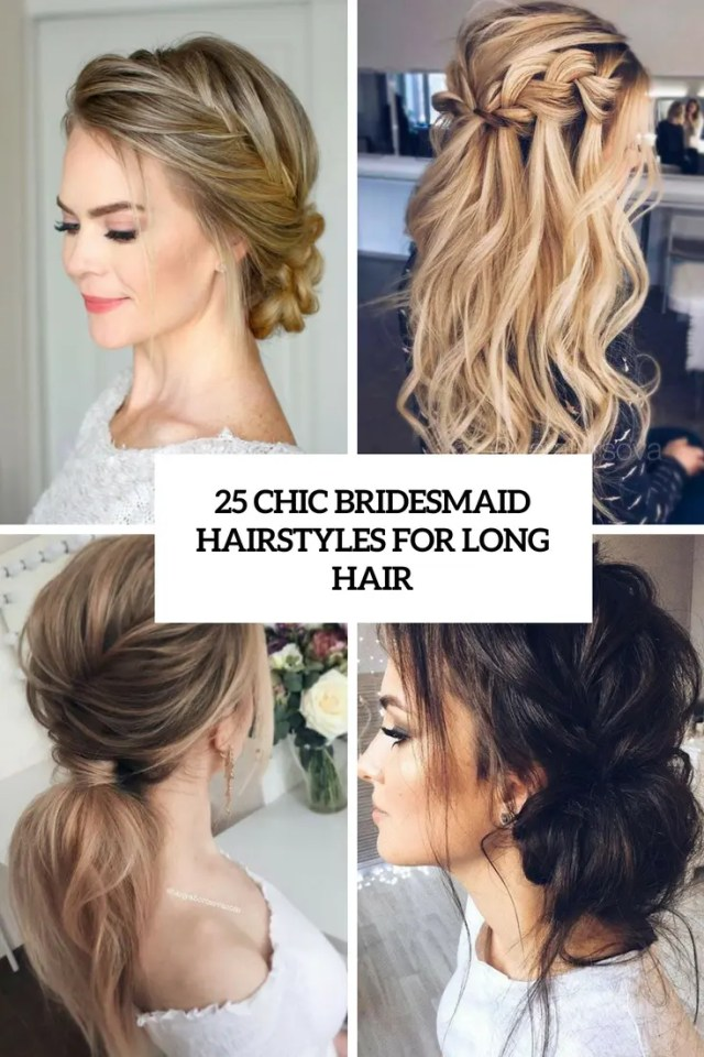 25 chic bridesmaid hairstyles for long hair - weddingomania