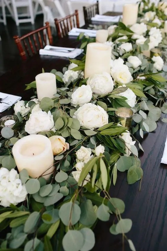 use the blooms from your wedding ceremony space for decorating the venue to use fewer blooms and reudce the costs