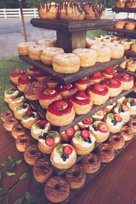 serve various mini desserts, be generous with them as many people at this time would love to have some pastries