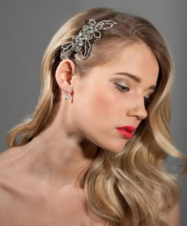 Picture Of Stunning Vintage Waves Bridal Hair Ideas