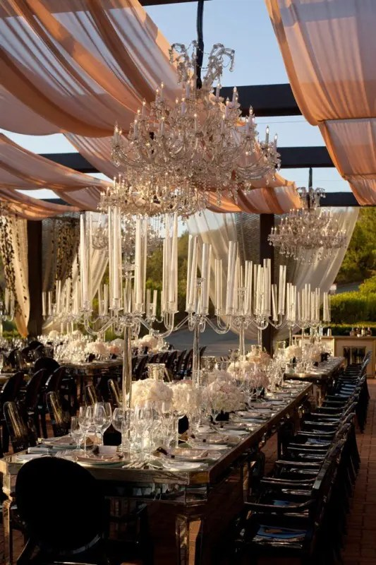 Picture Of Glamorous Chandeliers Wedding Decor Ideas 18