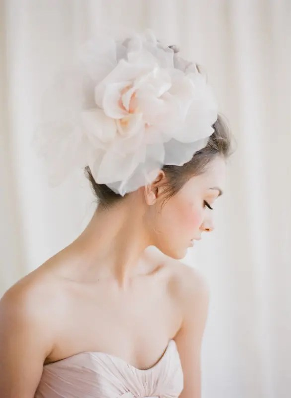 Picture Of Gorgeous Oversized Bridal Hair Flowers Ideas