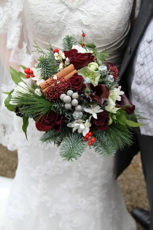 Image Result For Adorable Winter Wedding Bouquet Ideas Roses