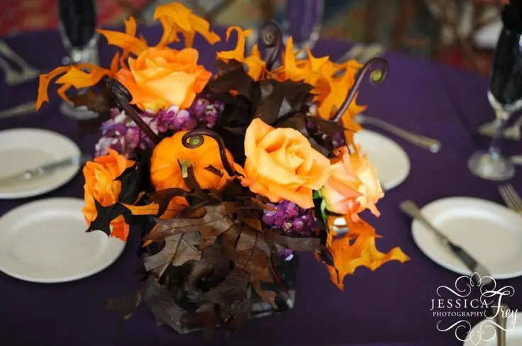 Picture Of Beautiful Halloween Wedding Centerpieces
