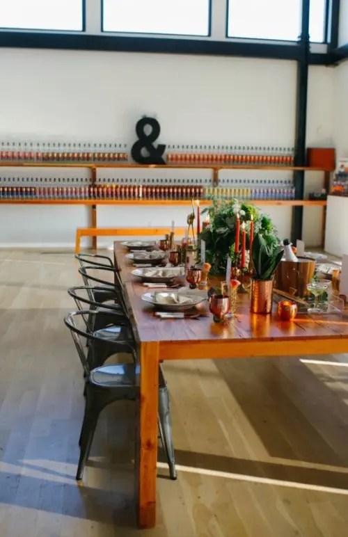Black And Orange Retro Meets Modern Wedding Inspiration