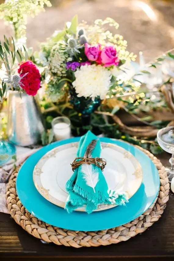 Picture Of Boho Chic Wedding Table Settings To Get Inspired 21