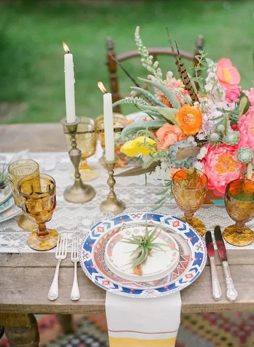 40 Boho Chic Wedding Table Settings To Get Inspired