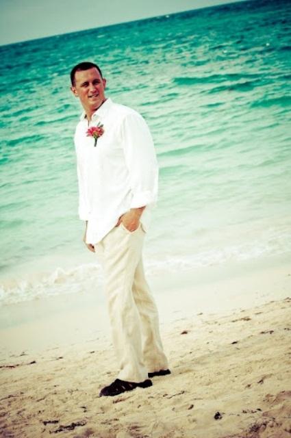Beach Wedding Outfits Groom