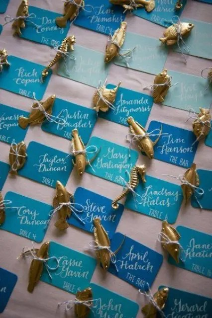 30 Creative Beach Wedding Escort Cards Ideas Weddingomania
