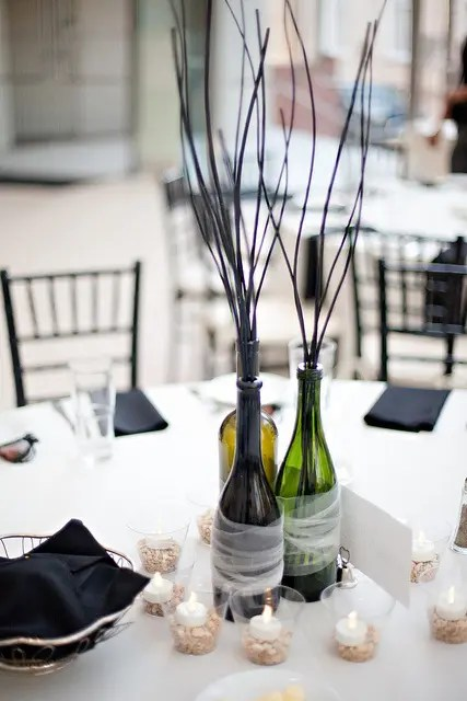 Tall Wedding Centerpieces Without Flowers